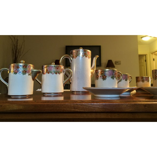 Vintage Japan Koshida Satsuma Coffee Set - 15 Pcs For Sale - Image 10 of 11