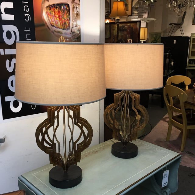 Regina Andrew Patter Maker Gold Table Lamps - A Pair - Image 3 of 9