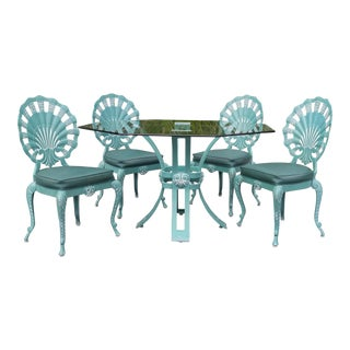 Brown Jordan Shell Chairs and Table