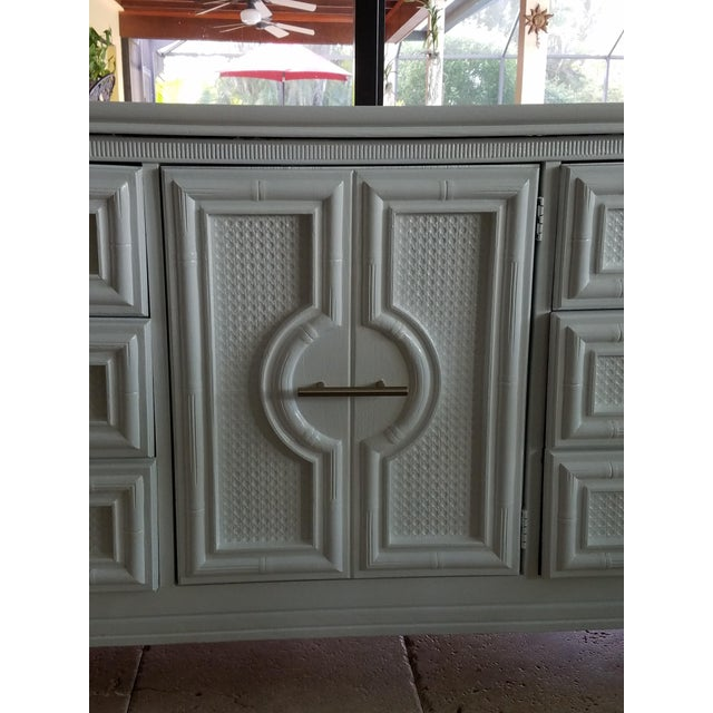1960s Vintage Faux Bamboo Credenza For Sale In West Palm - Image 6 of 10