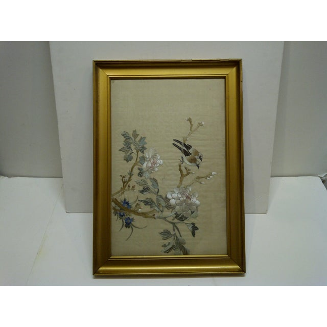 """Silk """"Song Birds"""" Embroidery on Silk For Sale - Image 7 of 7"""