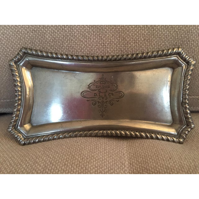 D.L. & Co. Pewter Presentoir Tray For Sale - Image 4 of 4