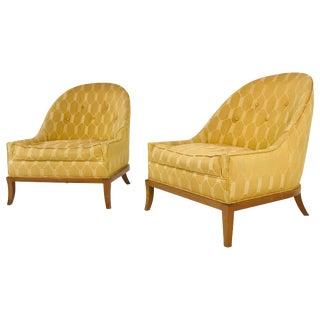 Pair of Elegant Slipper Chairs by t.h. Robsjohn-Gibbings for Widdicomb For Sale