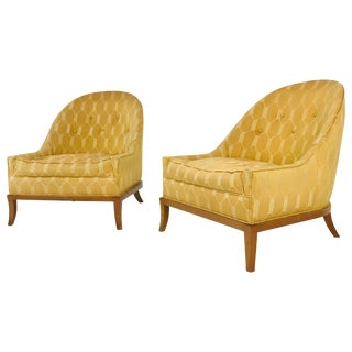 Pair ofSlipper Chairs by t.h. Robsjohn-Gibbings for Widdicomb For Sale