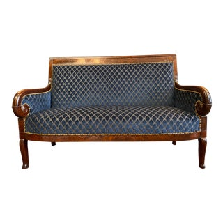 Christian Lacroix Upholstered 19th Century Original French Empire Settee For Sale