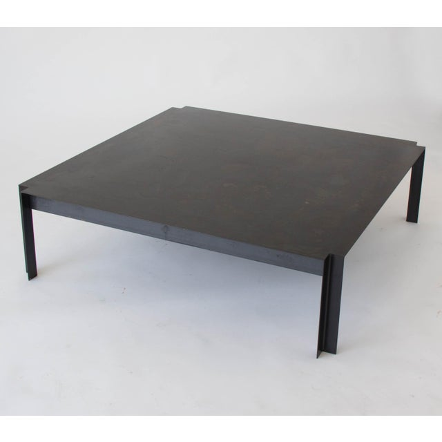 California-Designed Modernist Square Coffee Table - Image 7 of 8