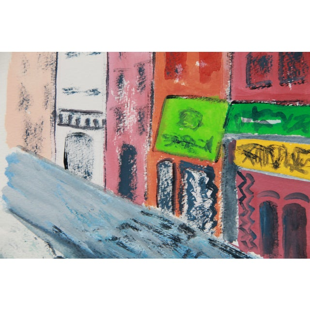 """""""Greenwich Village #2"""" Gouache Cityscape by Cleo - Image 4 of 4"""