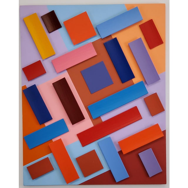 2010s Abstract Sassoon Kosian in Search of Happiness Wall Sculpture For Sale - Image 5 of 5
