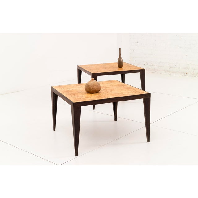Mid-Century Modern Pair of Roberto Sorrendoguy End Tables For Sale - Image 3 of 7