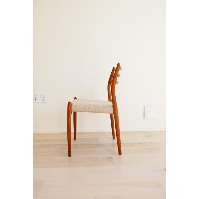 Danish Modern J L Moller Danish Modern Model 78 Teak Dining Chair - Set of 4 For Sale - Image 3 of 13