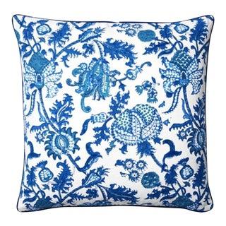 Roller Rabbit Amanda Decorative Pillow Cover - Blue For Sale