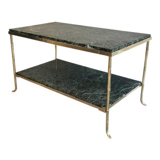 1940's Bagués Style Coffee Table With Green Marble