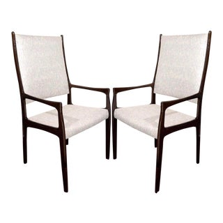 Set of Six Mid-Century Modern High Back Dining Chairs in the Style of Gio Ponti For Sale