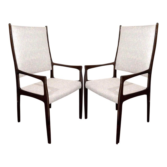 Set Of Six Mid Century Modern High Back Dining Chairs In The Style Of Gio Ponti