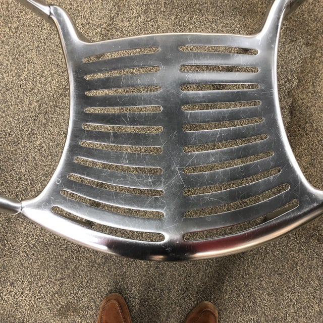 Silver 6 Signed Jorge Pensi Vintage Metal Toledo Chairs For Sale - Image 8 of 11