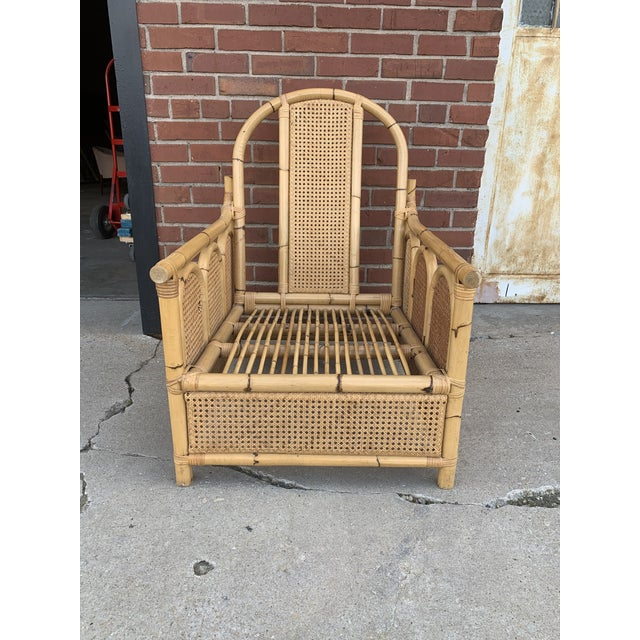Very unique rattan chair is in excellent condition. I wanted to do the cushions but this was a last-minute find. I was...