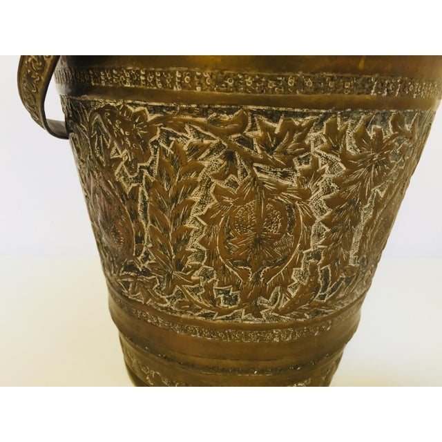 Anglo-Raj Mughal Bronzed Copper Vessel Bucket For Sale - Image 4 of 12