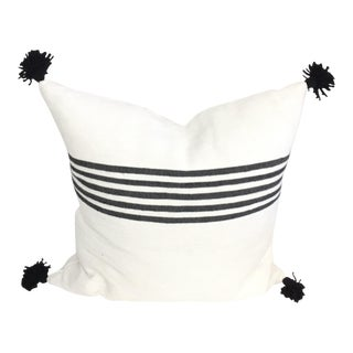 Shoreline Black White Pompom Pillow