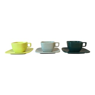 Mid-Century Brookpark Modern Design Cups and Saucers - Set of 3 For Sale
