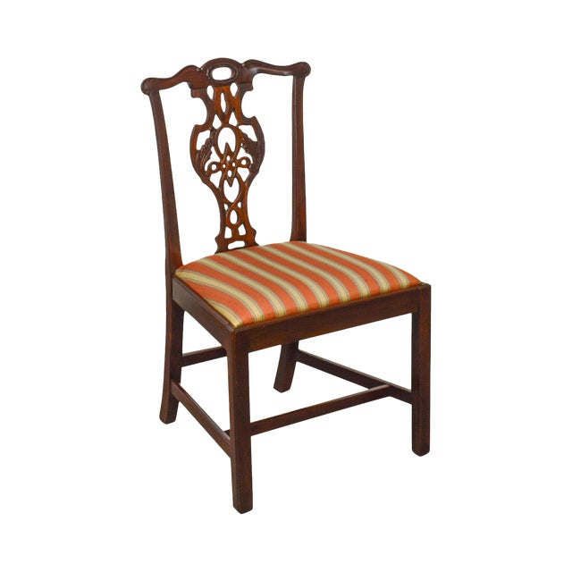 Baker Historic Charleston Collection Chippendale Style Mahogany Side Chair For Sale