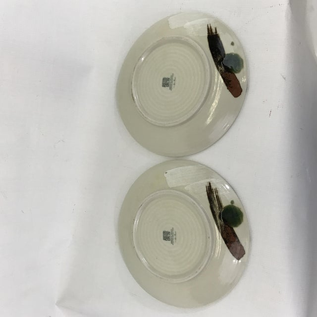 Painted Art Pottery Plates - a Pair For Sale In Charlotte - Image 6 of 7