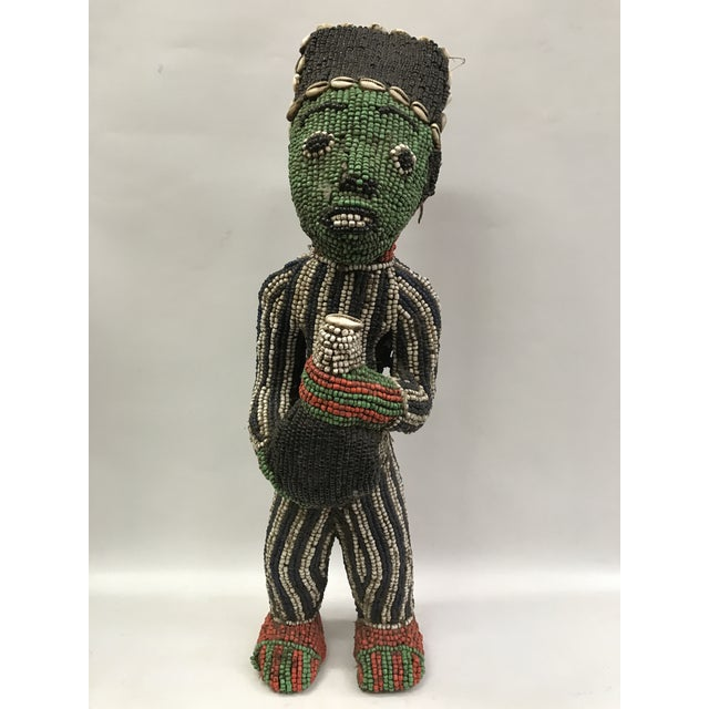 African Tribal Bamileke Beaded Statue