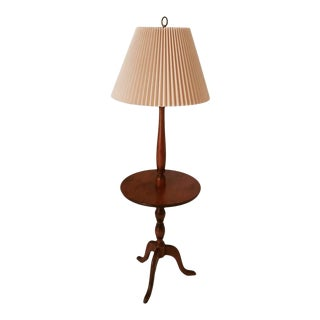 Mid Century Maple Floor Lamp For Sale