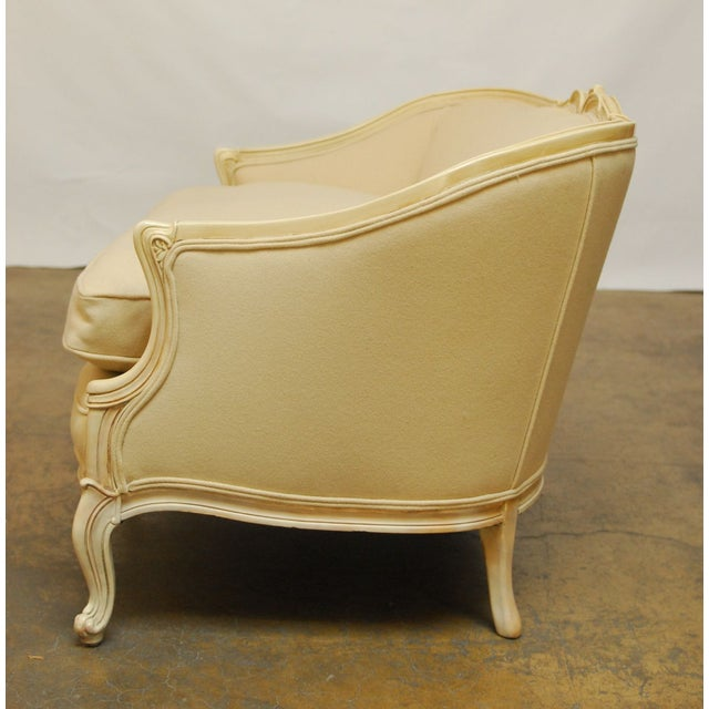 French Louis XV Style Loveseat Settee - Image 4 of 7