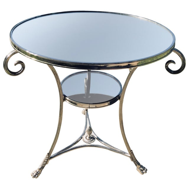 Metal Neoclassical Side Table For Sale - Image 7 of 7