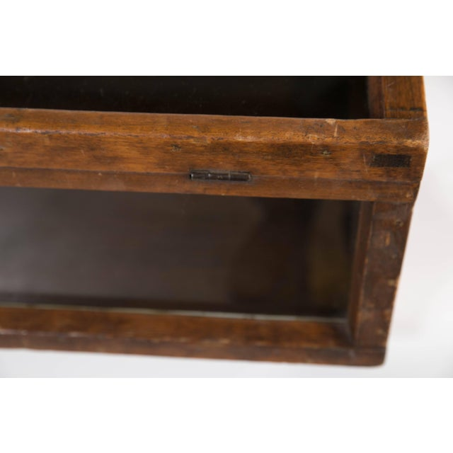Wood Antique Tabletop Store Display Cabinet For Sale - Image 7 of 10