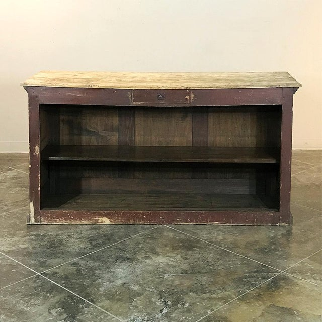 19th Century Rustic County French Store Counter For Sale In Baton Rouge - Image 6 of 11