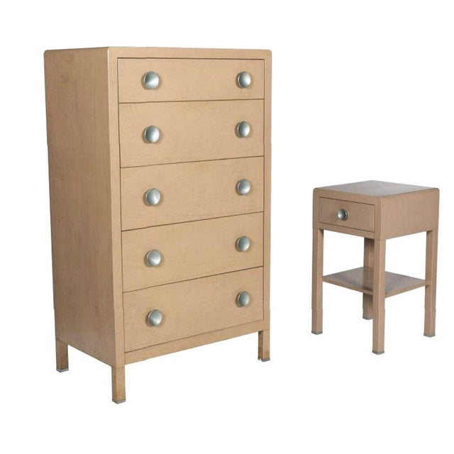 Last Call 1930's Norman Bel Geddes for Simmons Art Moderne Dresser & Nightstand - Image 3 of 5