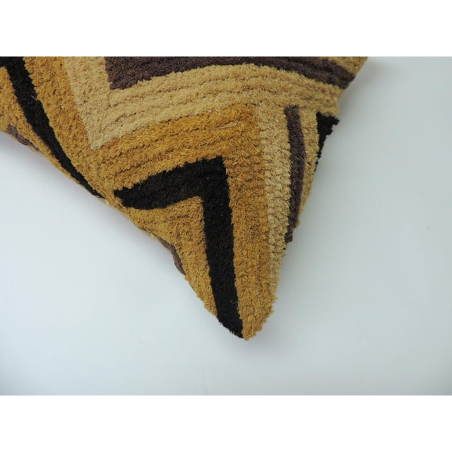 African Tribal Woven and Embroidery African Decorative Square Artisanal Textile Pillow For Sale - Image 3 of 6