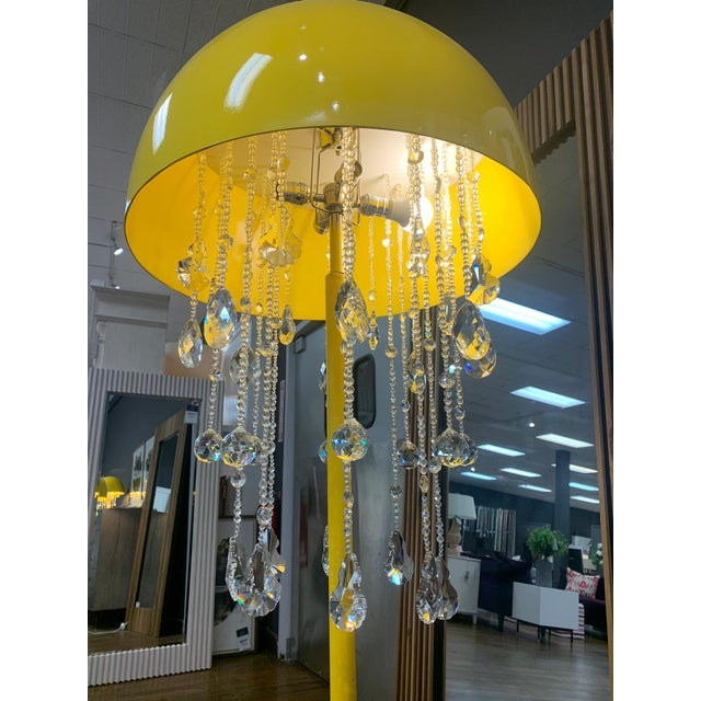 Modern Yellow Lunar Floor Lamp For Sale - Image 3 of 4