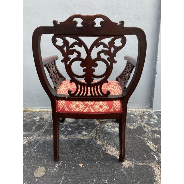 Antique Jacobean Accent Chair For Sale - Image 10 of 13