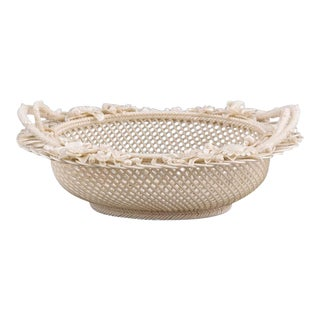 Belleek Four Strand Oval Basket For Sale