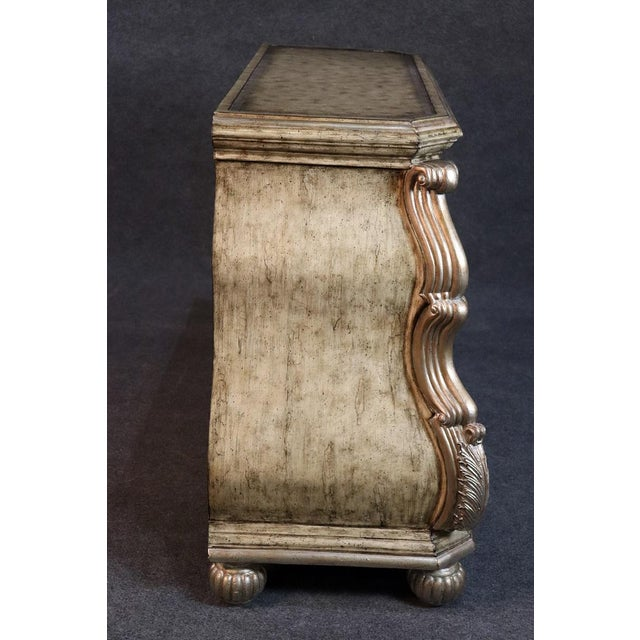 Large Italian Rococo Style Leather Top Commode For Sale In Philadelphia - Image 6 of 9