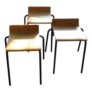Modern Bent Plywood Stools - Set of 3