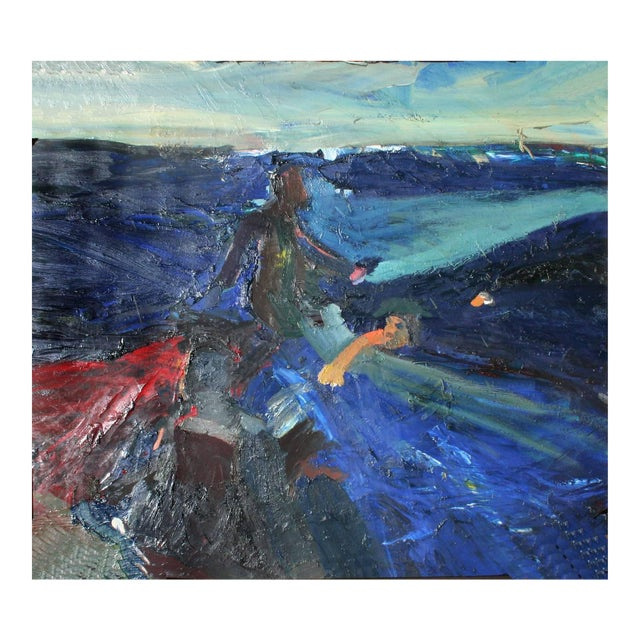 Joan Brown Swimming With Sharks and Manuel Neri Walking on Water San Francisco Bay For Sale