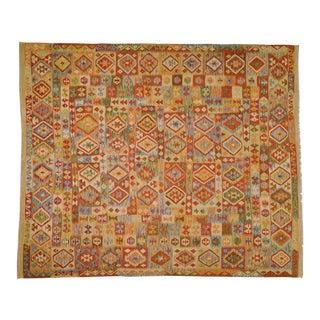 "Vintage Afghan Hand Made Maimana Kilim,8'4""x10'1"" For Sale"