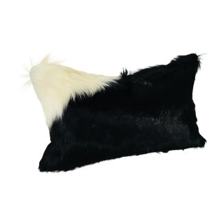 Black & White Natural Cowhide Pillow For Sale