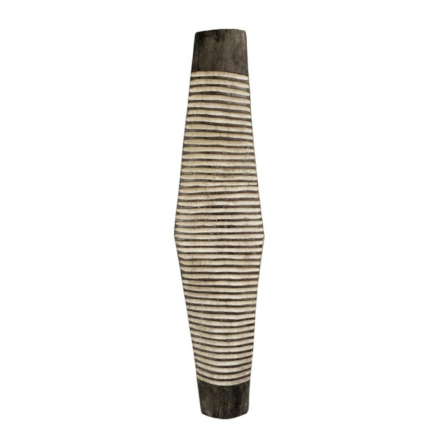 African Zulu Elongated Shield For Sale - Image 3 of 3