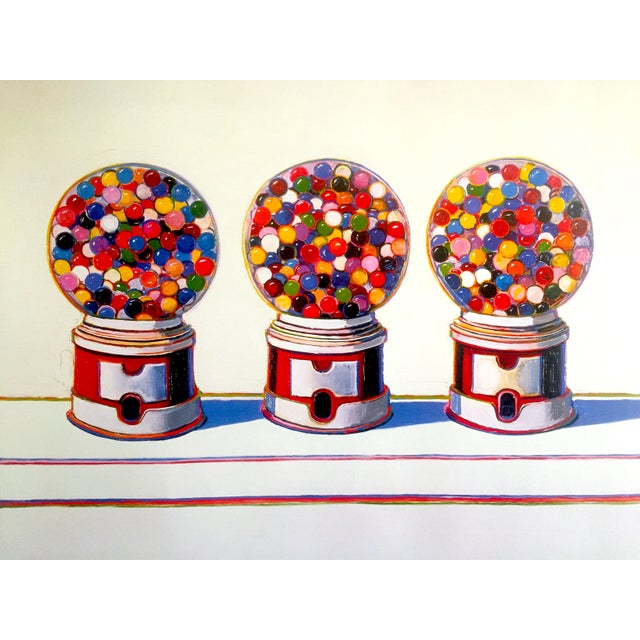 "2000 - 2009 Wayne Thiebaud Lithograph Print Pop Art Museum Poster "" Three Machines "" 1963 For Sale - Image 5 of 12"
