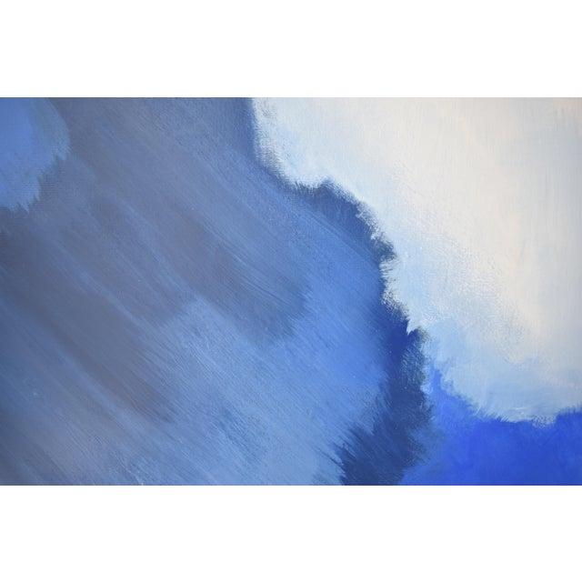 Modern Blue Bloom Painting - 3040 - Image 3 of 5