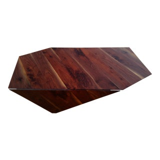 Modern Walnut Lift Top Coffee Table For Sale