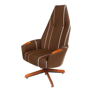 Adrian Pearsall for Craft Associates High Back Swivel Lounge Chair