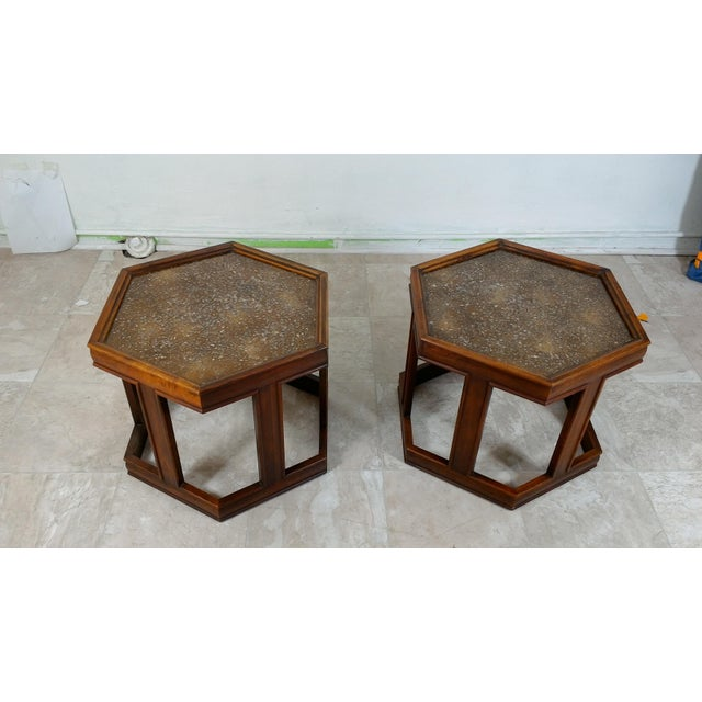 1960s Mid-Century Modern Brown and Saltman End Tables - a Pair For Sale - Image 11 of 12