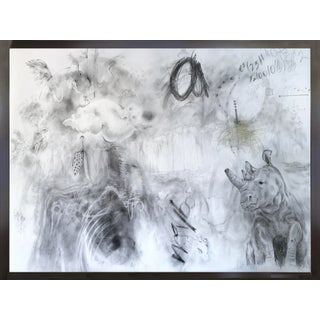 Abstract Mixed Media Drawing Titled 'Baby Bye Bye Bye' by Jody Levinson For Sale
