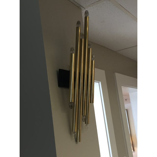 Lightolier Vintage Single Brass Lightolier Sconce For Sale - Image 4 of 6