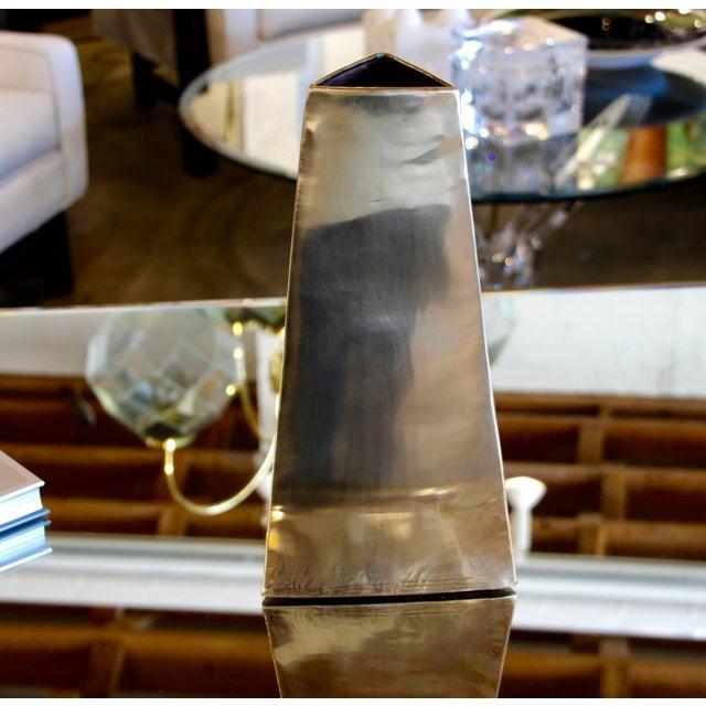 Gold James Johnston Brass Modernist Vase For Sale - Image 8 of 8